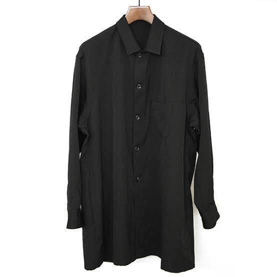 Yohji Yamamoto POUR HOMME ヨウジヤマモトプールオム 18SS ウールギャバジン トッパーシャツ ジャケット メンズ ブラック 1