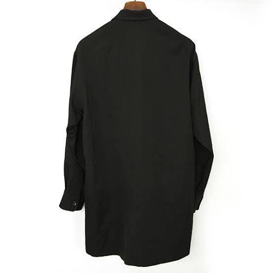 Yohji Yamamoto POUR HOMME ヨウジヤマモトプールオム 18SS ウールギャバジン トッパーシャツ ジャケット メンズ ブラック 1_画像2