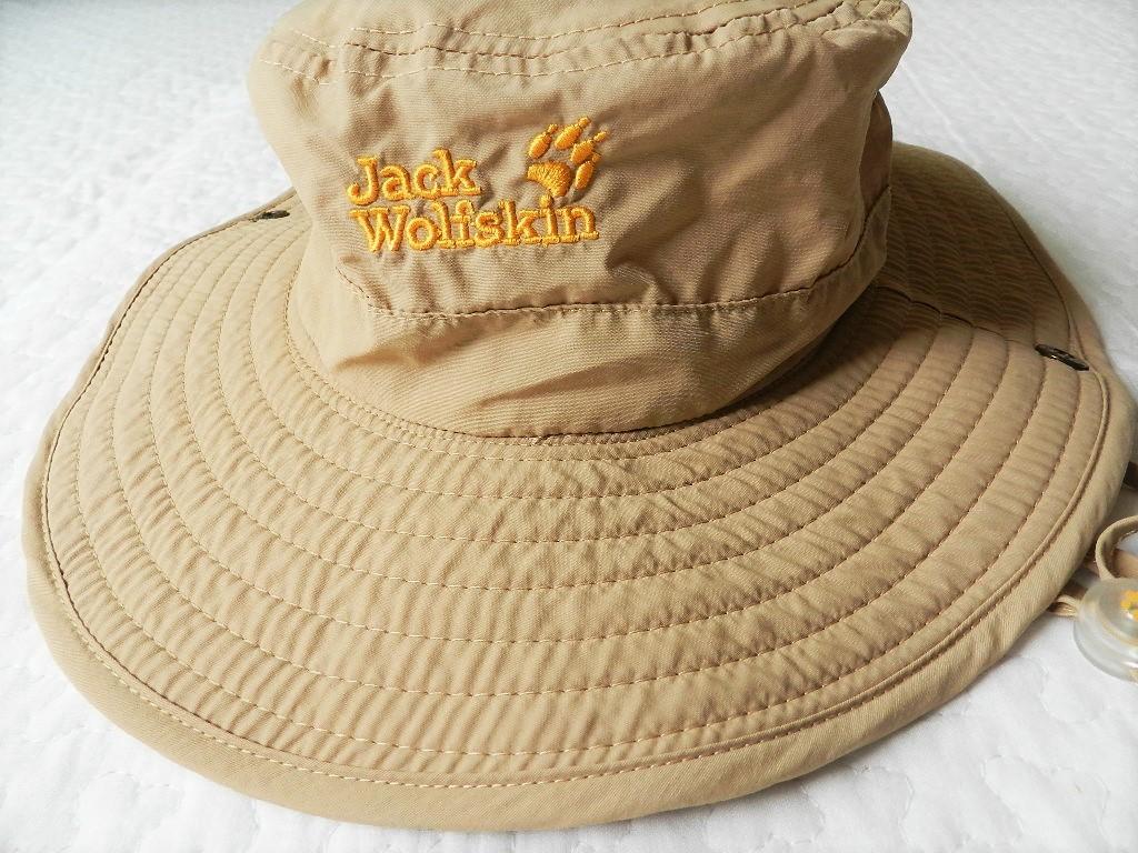 美品★JackWolfskin帽子 ベージュアウトドア 運動 登山  紫外線防止_画像2