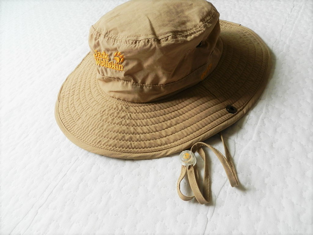 美品★JackWolfskin帽子 ベージュアウトドア 運動 登山  紫外線防止_画像3