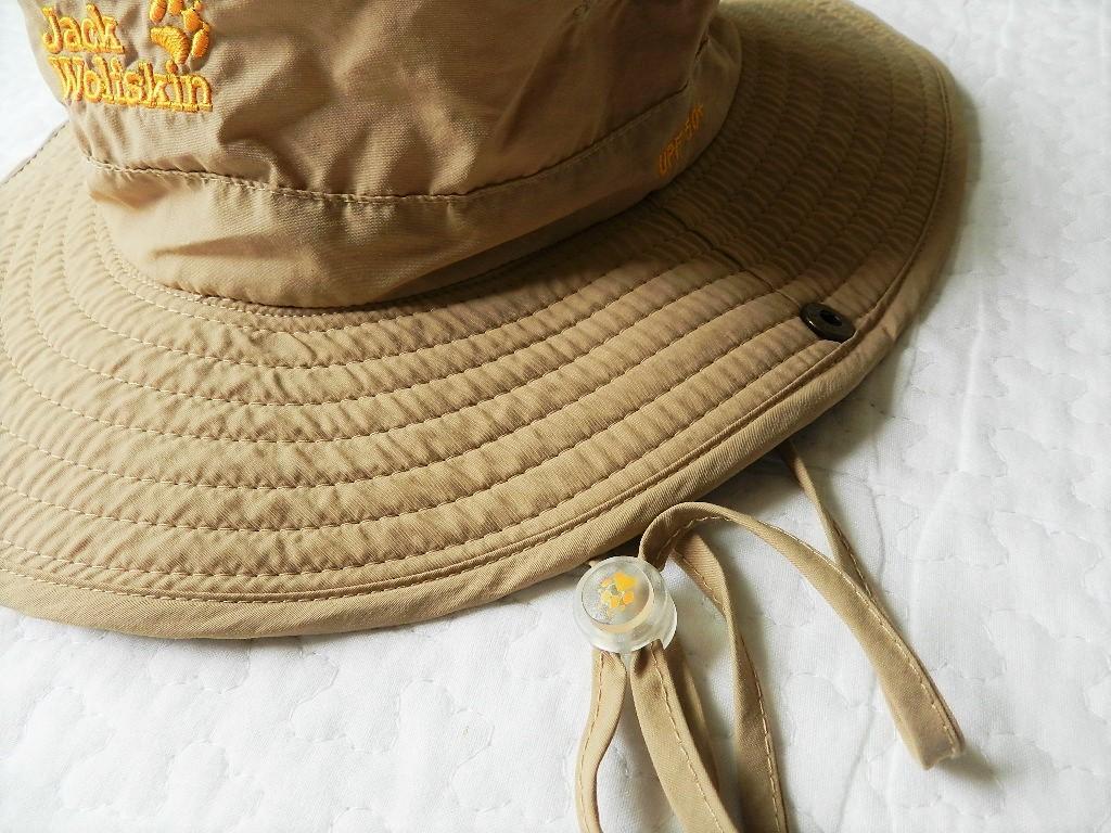 美品★JackWolfskin帽子 ベージュアウトドア 運動 登山  紫外線防止_画像4