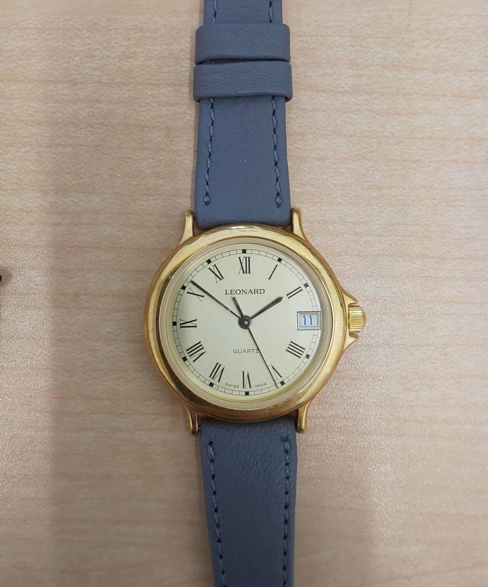 【5008】レディース 腕時計 ジャンク / ANTIMAG4800 citizen EXCEED / u.p renoma レノマ クオーツ / leonard レオナール_画像6