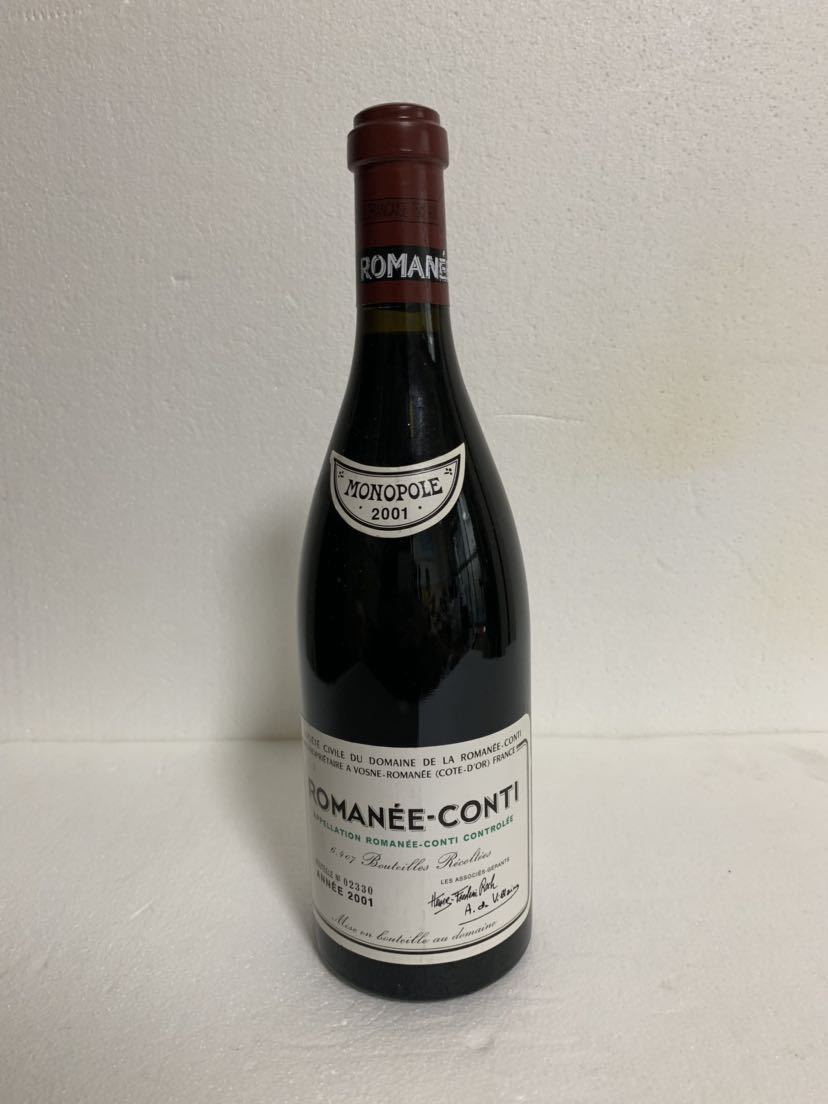 ☆希少ワイン 「2001」ロマネコンティ ROMANEE CONTI ドメーヌ・ド・ラ・ロマネコンティ