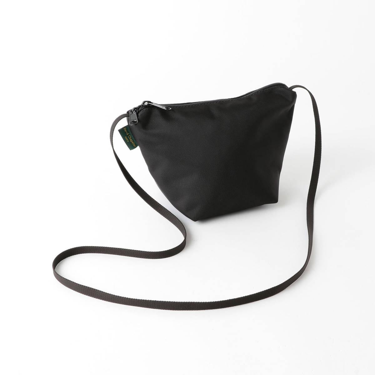 エルベシャプリエgreen label relaxingタグ付き新品ショルダーポーチ ポシェット バッグUNITED ARROWSグリーンレーベル ブラック黒