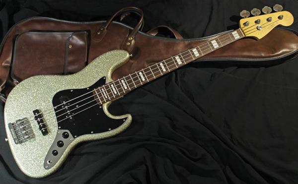 【Fender Japan】JB62 FCH/SLV Jazz Bass(シルバーラメ塗装/BABICZブリッジ/ブロックポジション)30本限定生産レアモデル 日本製 準美品_画像10
