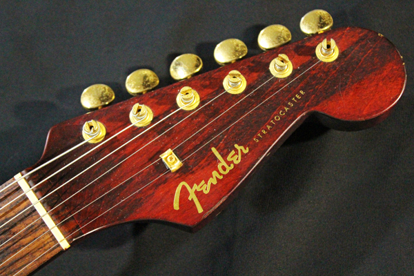 【Fender Japan】STG-65(MBR)Stratocaster(マットブラウン・マッチングヘッド/ゴールドパーツ)フジゲン 日本製 ジャンク_画像2