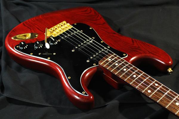 【Fender Japan】STG-65(MBR)Stratocaster(マットブラウン・マッチングヘッド/ゴールドパーツ)フジゲン 日本製 ジャンク_画像3