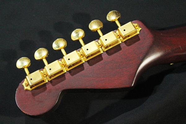【Fender Japan】STG-65(MBR)Stratocaster(マットブラウン・マッチングヘッド/ゴールドパーツ)フジゲン 日本製 ジャンク_画像4