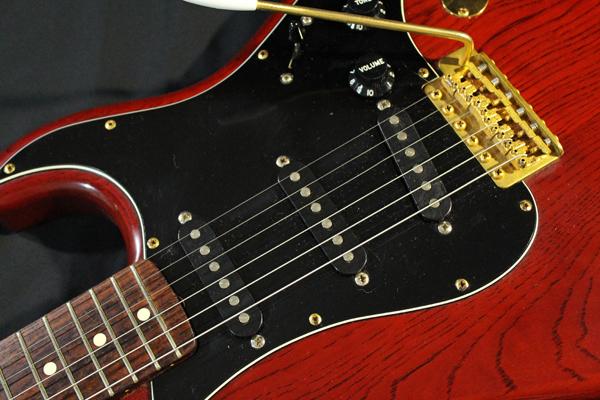 【Fender Japan】STG-65(MBR)Stratocaster(マットブラウン・マッチングヘッド/ゴールドパーツ)フジゲン 日本製 ジャンク_画像8