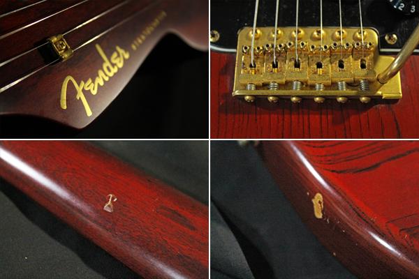 【Fender Japan】STG-65(MBR)Stratocaster(マットブラウン・マッチングヘッド/ゴールドパーツ)フジゲン 日本製 ジャンク_画像9