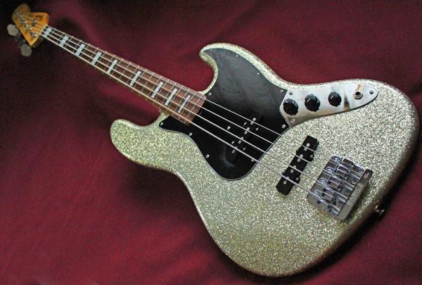 【Fender Japan】JB62 FCH/SLV Jazz Bass(シルバーラメ塗装/BABICZブリッジ/ブロックポジション)30本限定生産レアモデル 日本製 準美品