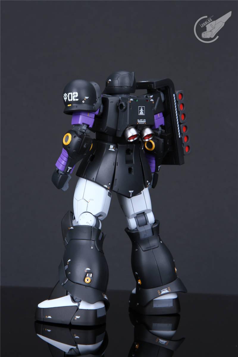 HG 1/144 MS-05B「ザクI」黒い三連星 改修塗装済み完成品 _画像5