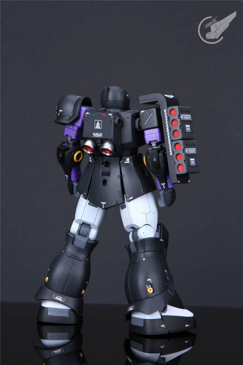 HG 1/144 MS-05B「ザクI」黒い三連星 改修塗装済み完成品 _画像6
