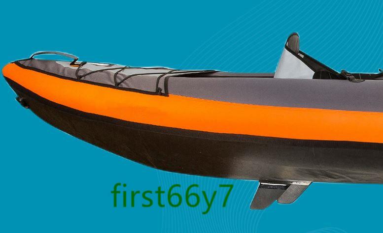 人気新品!多機能 折り畳み便利 インフレータ 魚釣り 漂流 ダイビング アウトドア カヌー、カヤック ゴムボート3人用382*108cm 17kg _画像6
