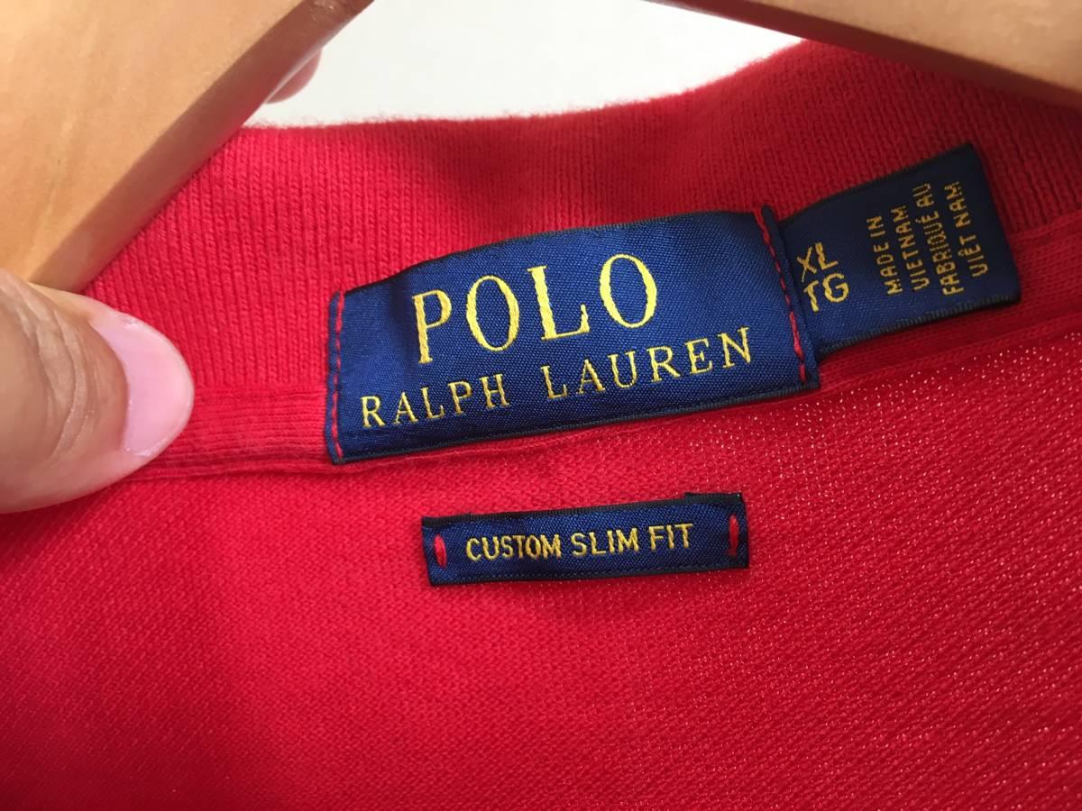 ★正規品★POLO RALPH LAUREN ラルフローレン 赤 ポロシャツ XL★_画像3