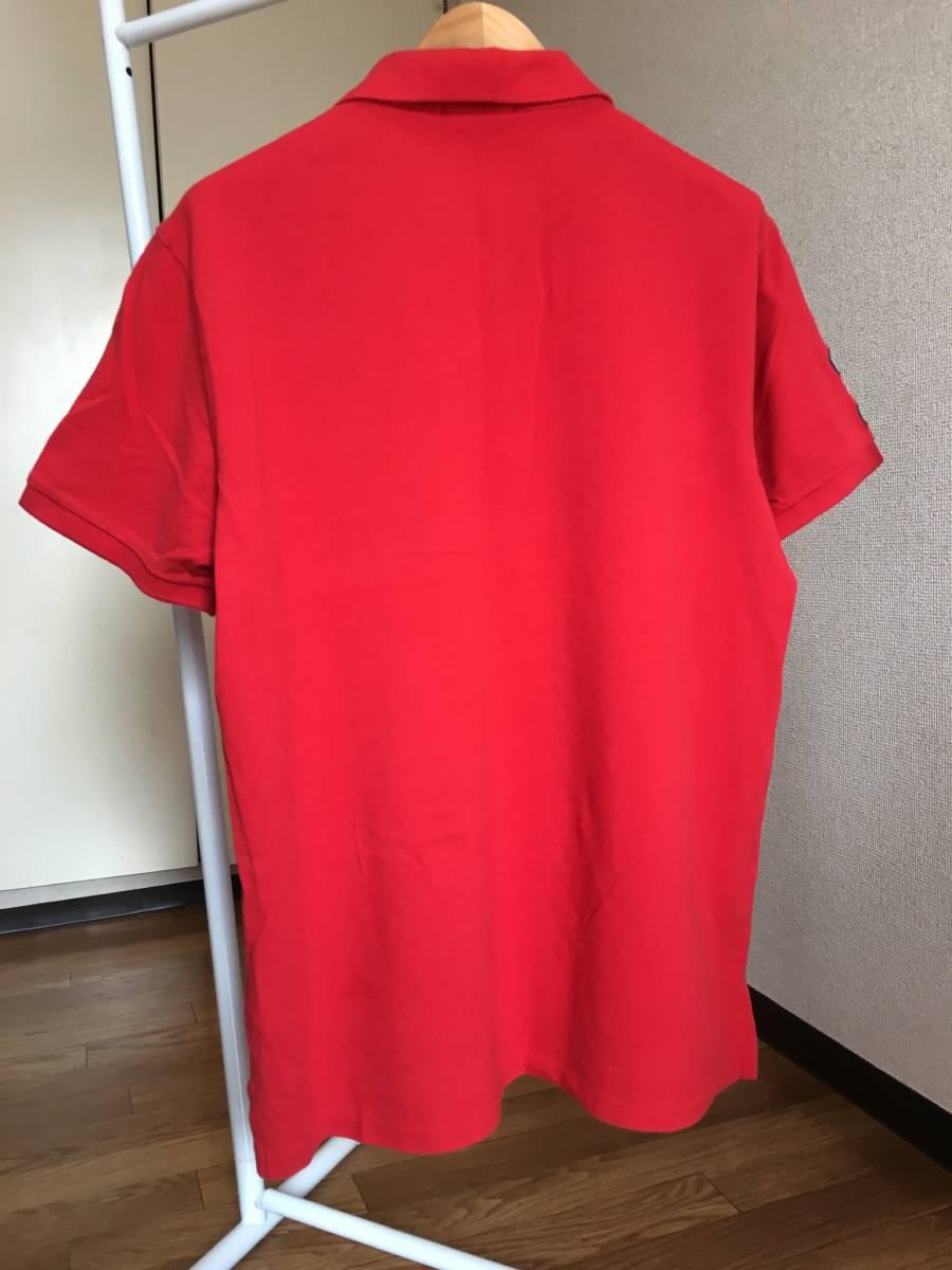 ★正規品★POLO RALPH LAUREN ラルフローレン 赤 ポロシャツ XL★_画像5
