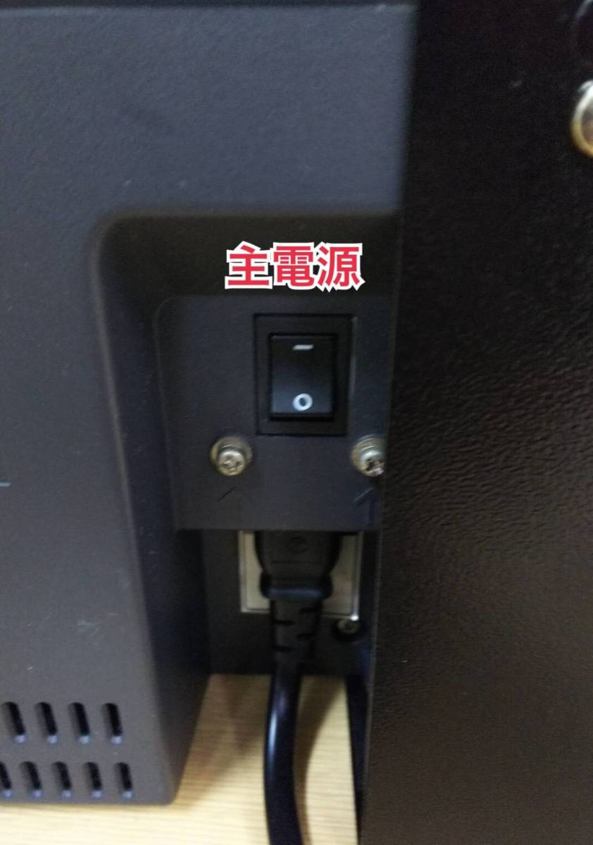 1000円値下げ! 12年製Uniden ユニデン 19型地上・BS・110度CSデジタルハイビジョンLEDテレビ TL19DX3 オリジナルスタンド付脚無 中古 9台有_画像7