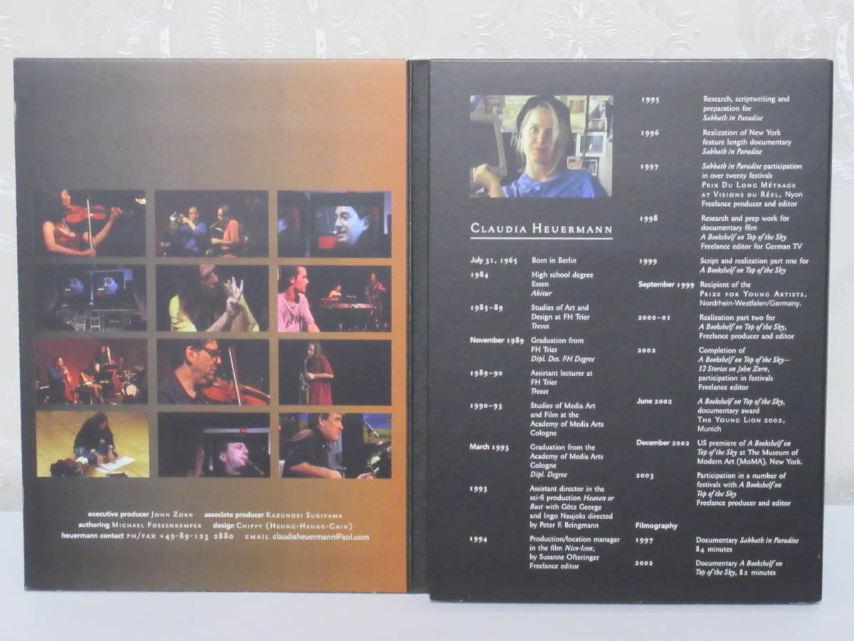 ★DVD★ジョン・ゾーン★John Zorn「A Bookshelf on Top of the Sky: 12 Stories About John Zorn」_画像3