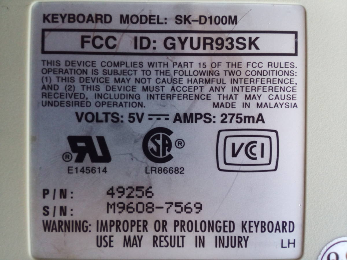 DELL SK-D100M メカニカルキーボード_画像2