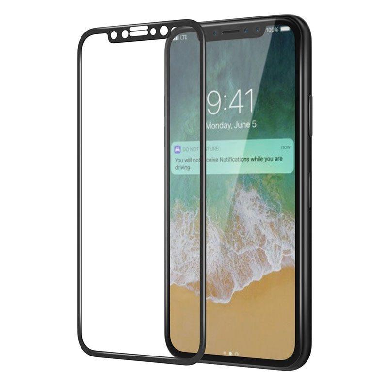 ★水曜日終了★【iPhone XS用】超高硬度9H 3D 液晶保護 強化ガラスフィルム(液晶保護フィルム) 極薄0.33mm 曲面対応 最強強度 徹底防御_画像5