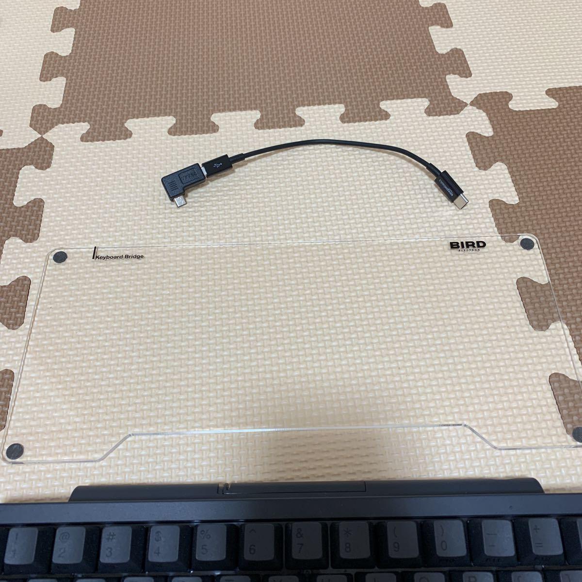 【中古美品】HHKB Professional BT PD-KB600B 墨 英語配列モデル かな無刻印 USキーボード おまけキーボードブリッジ_画像4