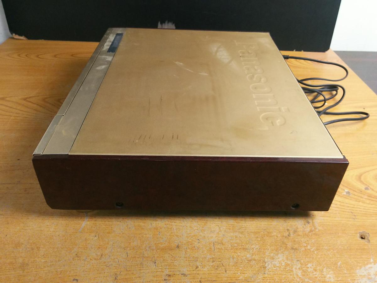 S8-344 ◆パナソニック S-VHS対応 ビデオデッキ NV-SB1000W◆通電のみ確認◆ジャンク品◆ _画像8
