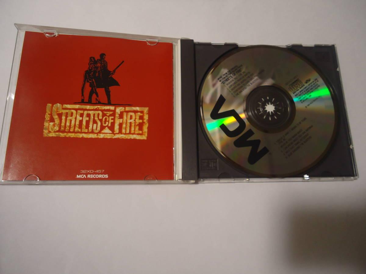 レア CD★Streets of Fire(ストリート オブ ファイアー) オリジナル・サウンドトラック(サントラ OST) シール帯付(32XD457)_画像2