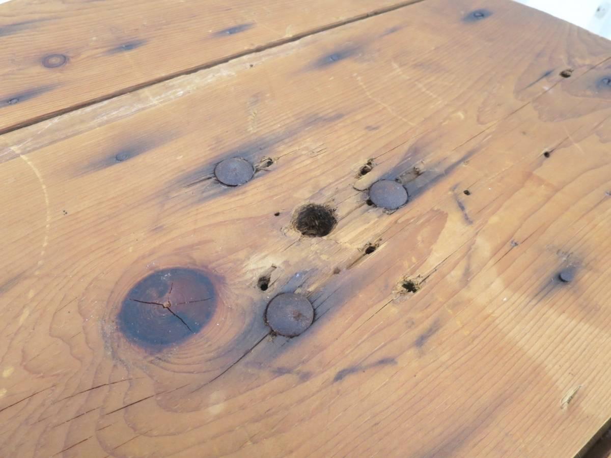 ビンテージ アイアンカフェテーブル 店舗ディスプレイ 丸テーブル ウッド 木製 アーリーアメリカン インダストリアル 机_画像5