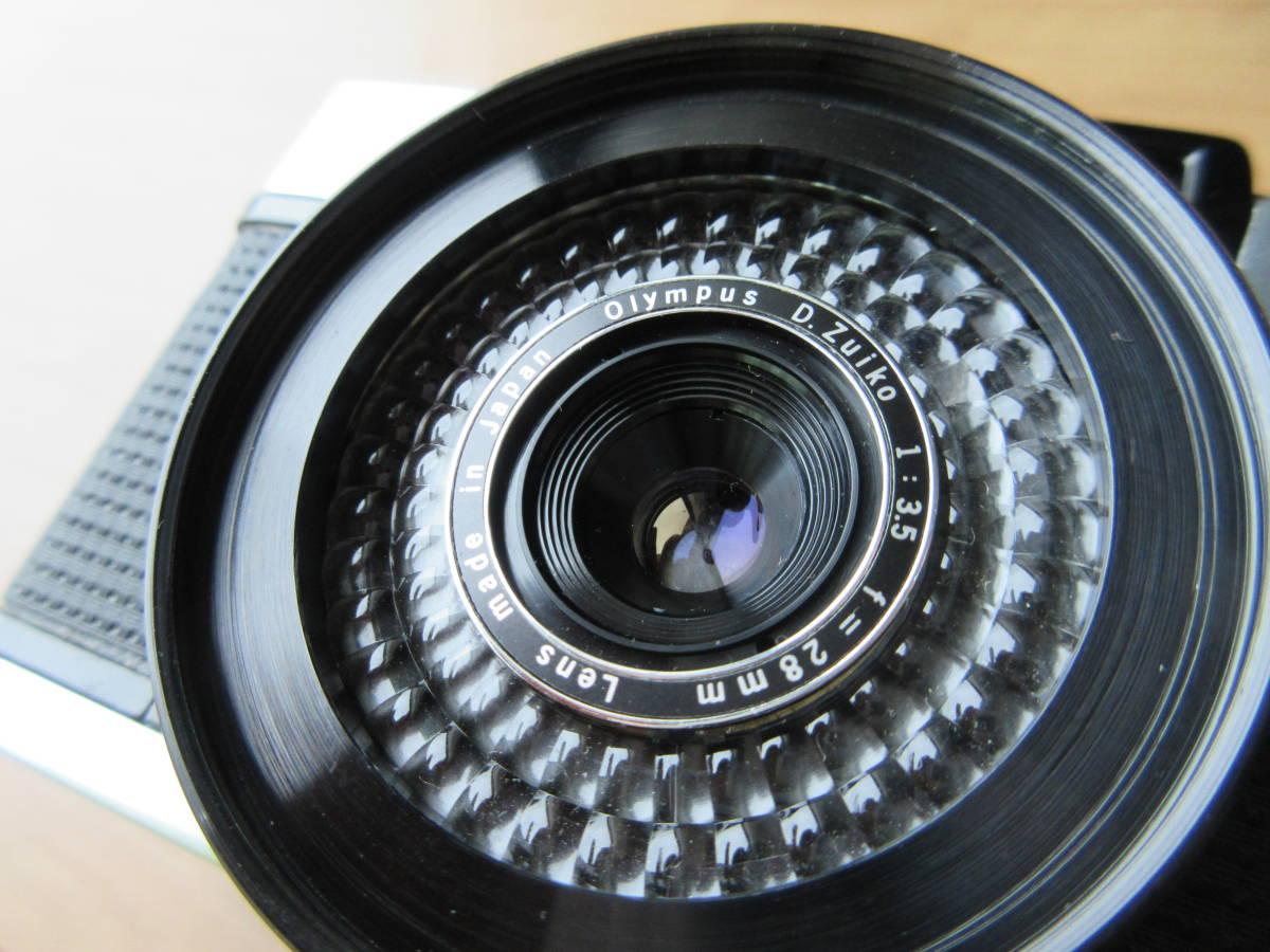 OLYMPUS-PEN EE-3 Olympus D. Zuiko 1:3.5 f=28mm ハーフカメラ シャッター切れます_画像3