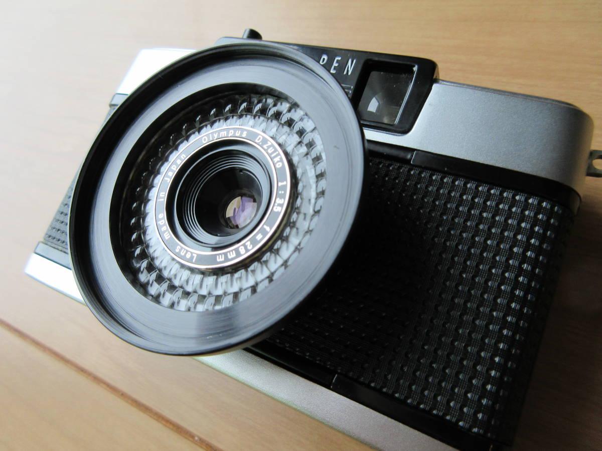 OLYMPUS-PEN EE-3 Olympus D. Zuiko 1:3.5 f=28mm ハーフカメラ シャッター切れます_画像5