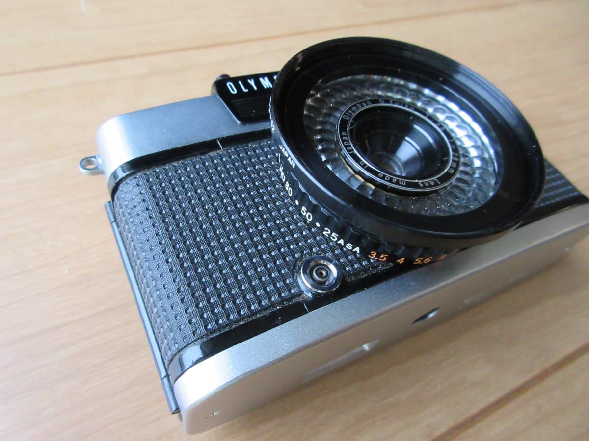OLYMPUS-PEN EE-3 Olympus D. Zuiko 1:3.5 f=28mm ハーフカメラ シャッター切れます_画像4
