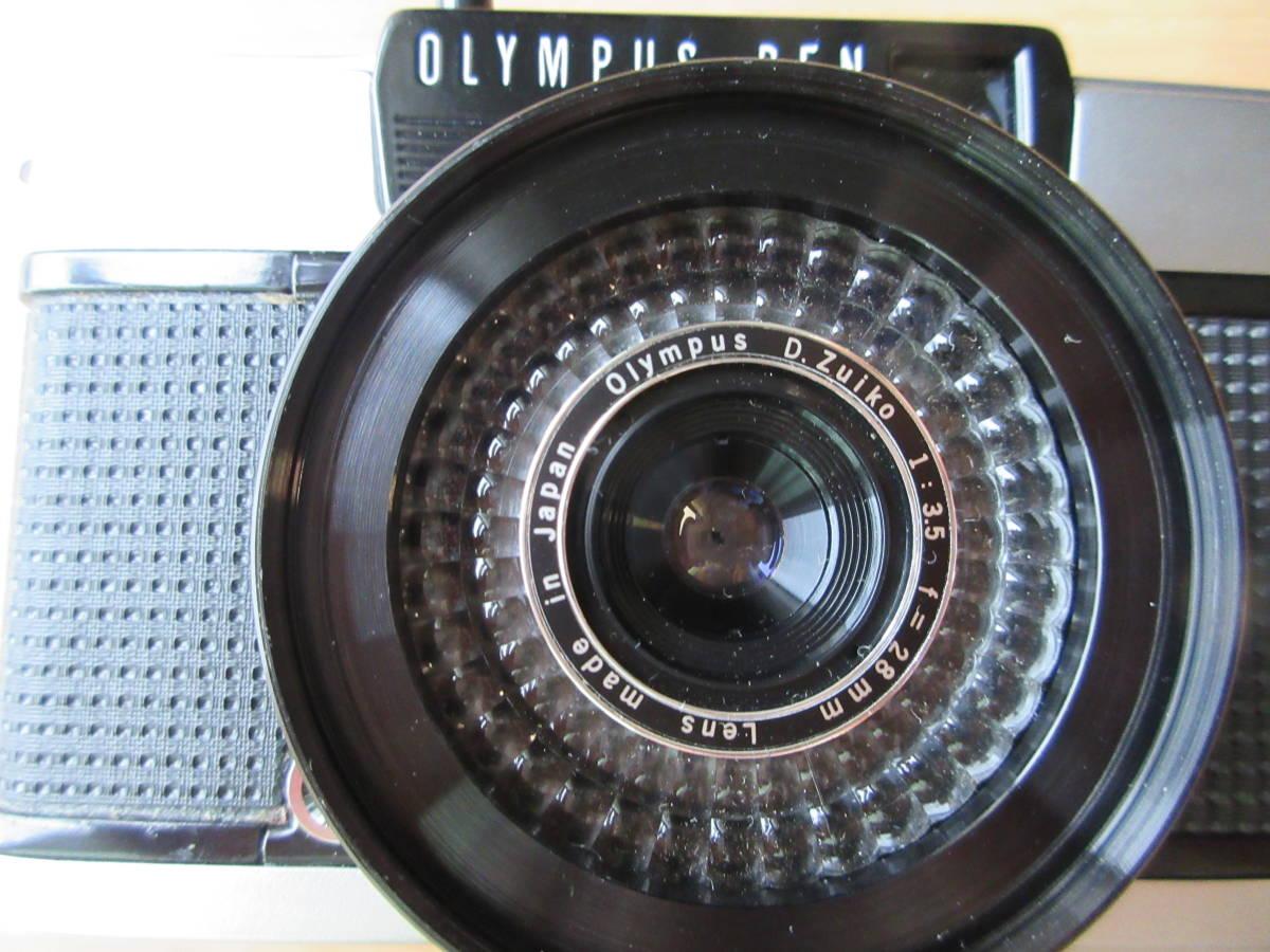 OLYMPUS-PEN EE-3 Olympus D. Zuiko 1:3.5 f=28mm ハーフカメラ シャッター切れます_画像2