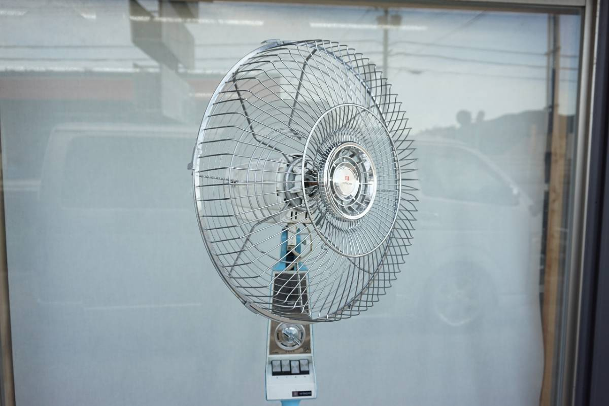 (w08686) ジャンク! HITACHI 大型扇風機!!  40cm羽用? S-858型_画像4