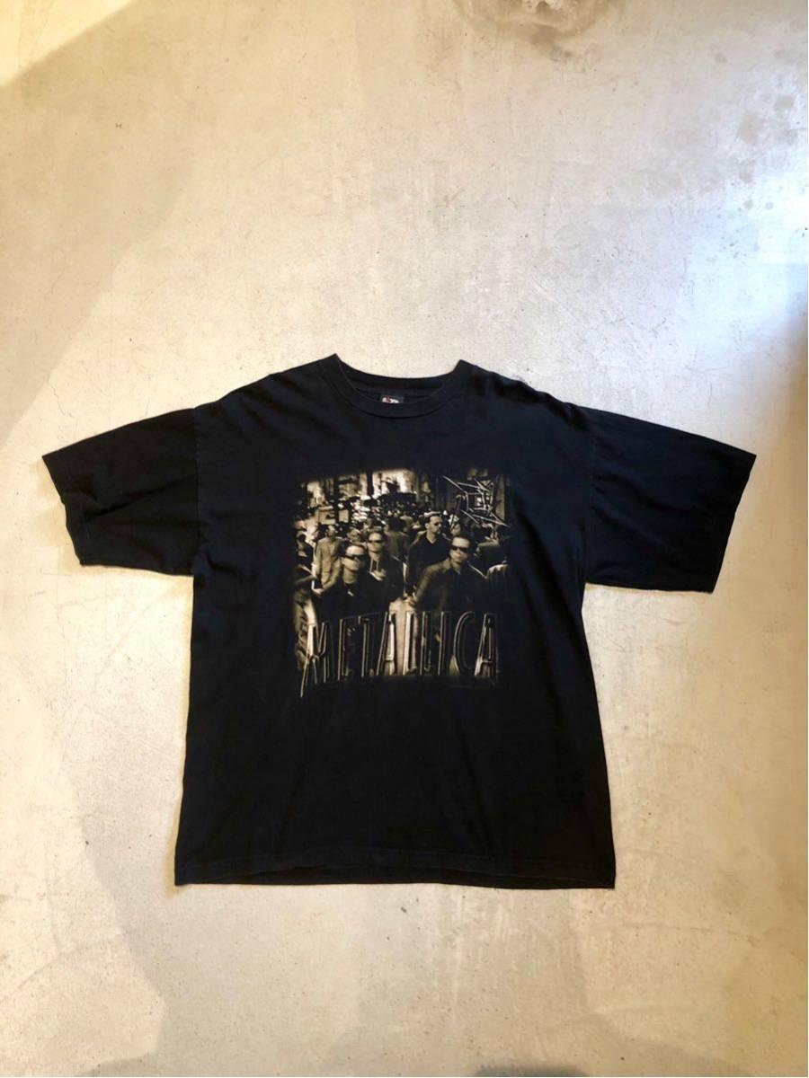 90's メタリカ METALLICA Tシャツ バンドTシャツ ロックTシャツ ヴィンテージ 古着 USA 黒_画像2