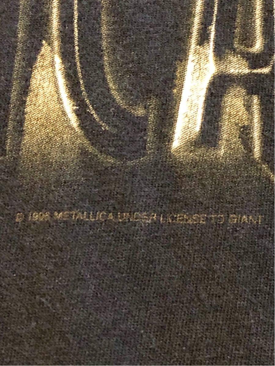 90's メタリカ METALLICA Tシャツ バンドTシャツ ロックTシャツ ヴィンテージ 古着 USA 黒_画像6