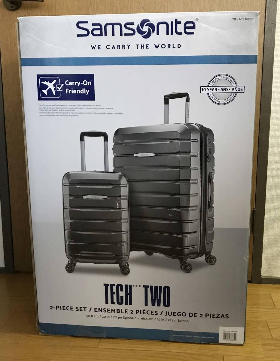 展示品 2個セット ★ 新作 サムソナイト TECH TWO 2 スーツケース グレー 27インチ & 21インチ TSAロック 4輪 ポリカーボネート samsonite_画像2