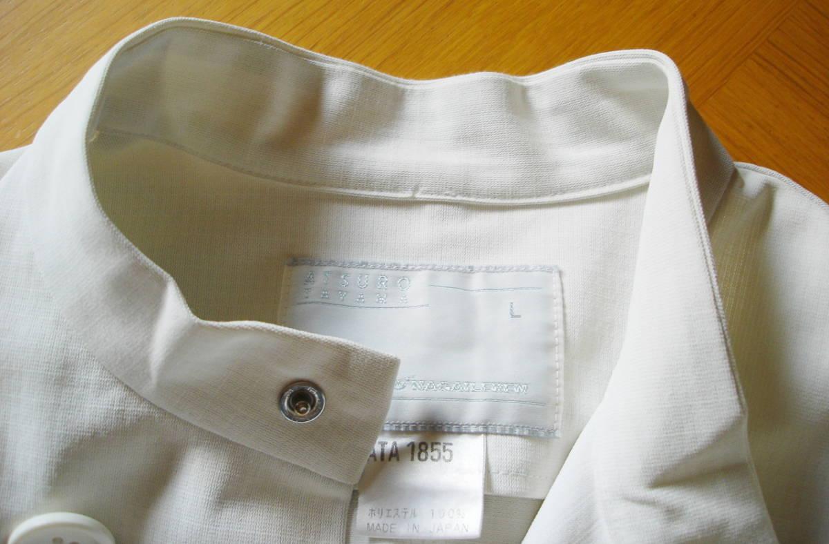 ナガイレーベン アツロウタヤマ メンズジャケット 半袖 ホワイト サイズ L ATA-1855 医務衣 白衣 _画像4