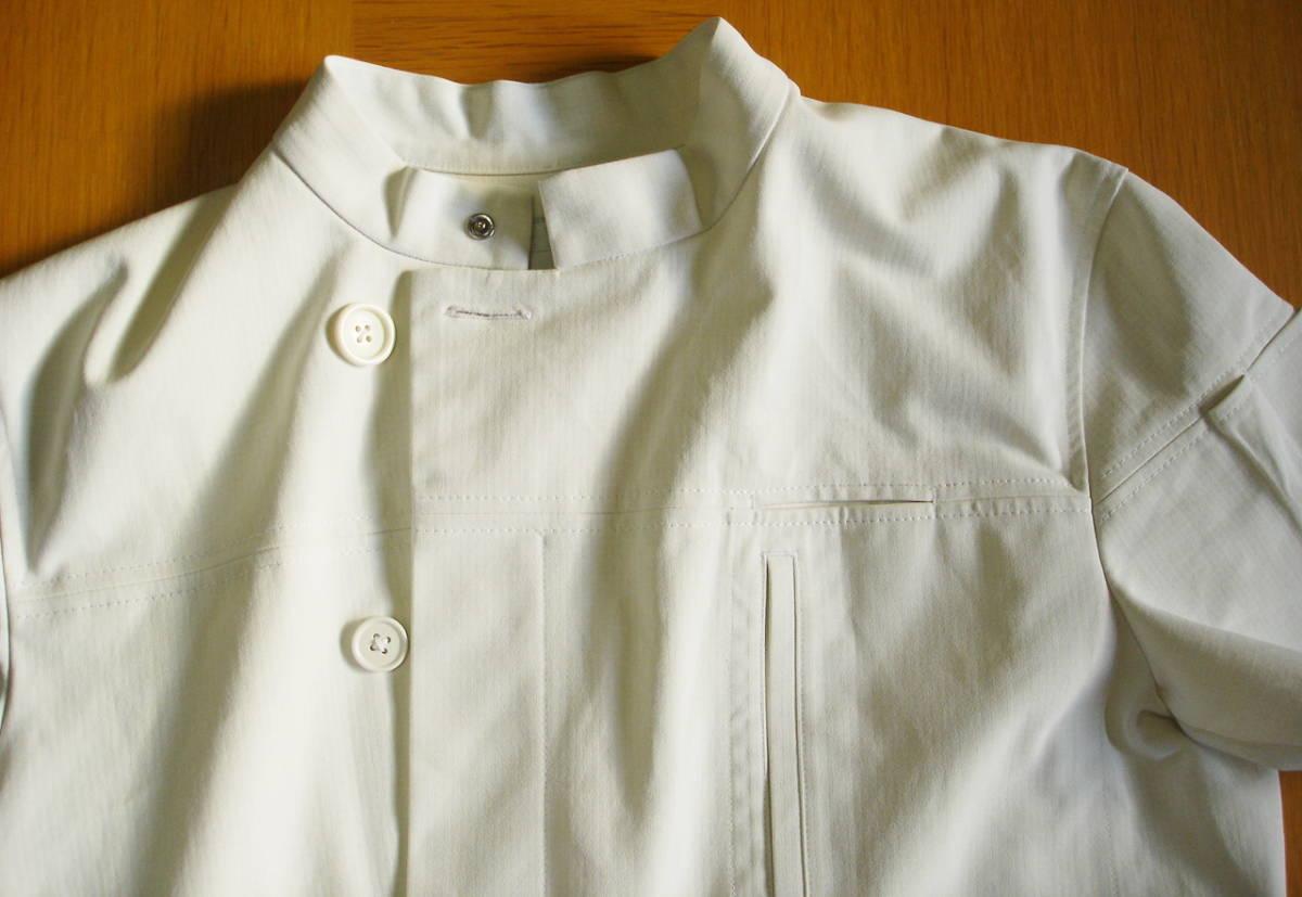 ナガイレーベン アツロウタヤマ メンズジャケット 半袖 ホワイト サイズ L ATA-1855 医務衣 白衣 _画像5