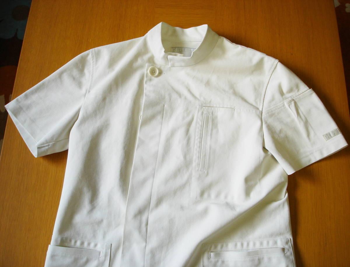 ナガイレーベン アツロウタヤマ メンズジャケット 半袖 ホワイト サイズ L ATA-1855 医務衣 白衣 _画像10