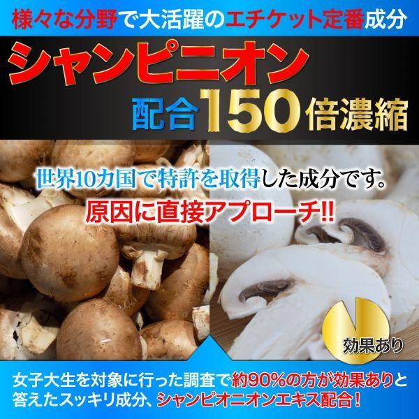 BLACK-DEO 150倍濃縮 シャンピニオン 配合 日本人男性専用 エチケットサプリメント 【約1ヶ月分60粒】_画像5