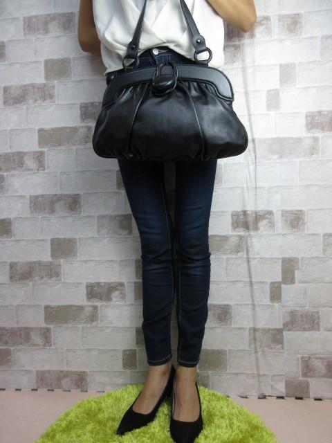 美品■トッズ TOD'S■ハンド バッグ トートバッグ レザー ブラック オシャレ鞄 ag4372_画像3