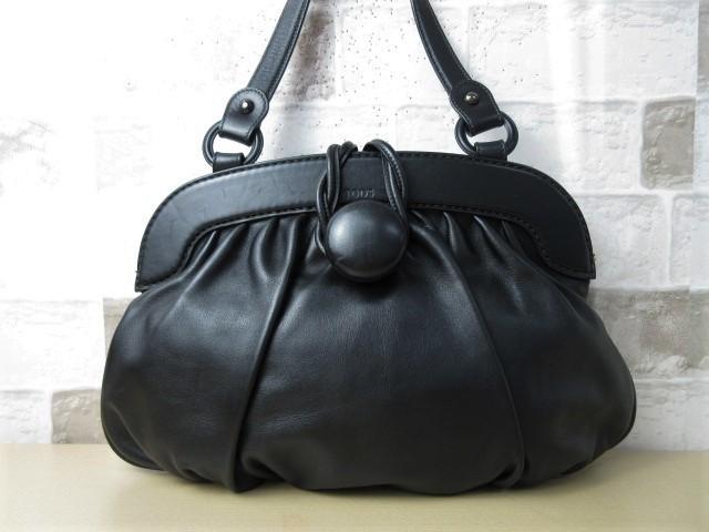 美品■トッズ TOD'S■ハンド バッグ トートバッグ レザー ブラック オシャレ鞄 ag4372