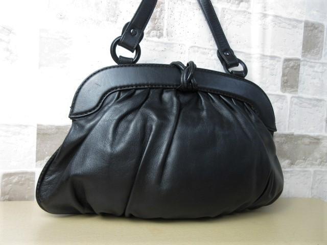 美品■トッズ TOD'S■ハンド バッグ トートバッグ レザー ブラック オシャレ鞄 ag4372_画像2