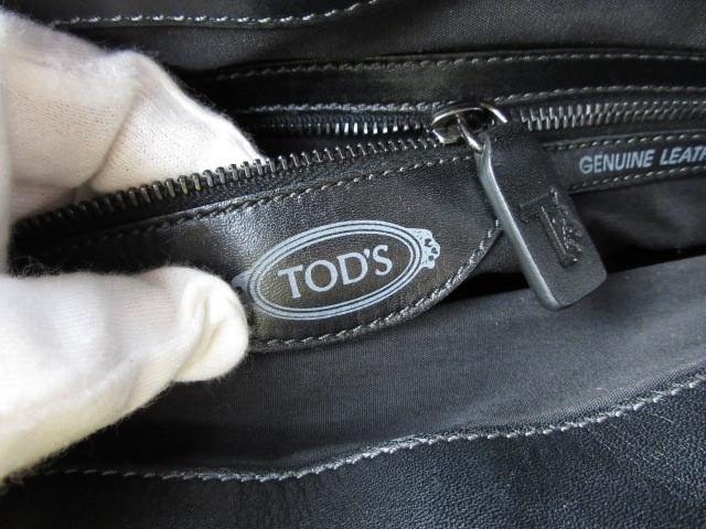 美品■トッズ TOD'S■ハンド バッグ トートバッグ レザー ブラック オシャレ鞄 ag4372_画像10