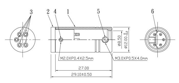 32)《1.2m ELECAUDIO製DIN-103フォノ5PINソケット+RCAプラグ モガミ フォノケーブル・アース線 銀メッキ》 Mogami2965 Phono cable _画像9