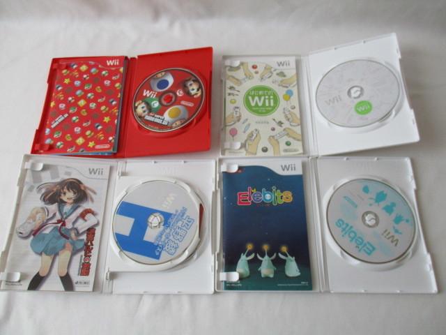 任天堂 Wii本体/付属品セット リモコン2個 ソフト6本セット 中古_画像6
