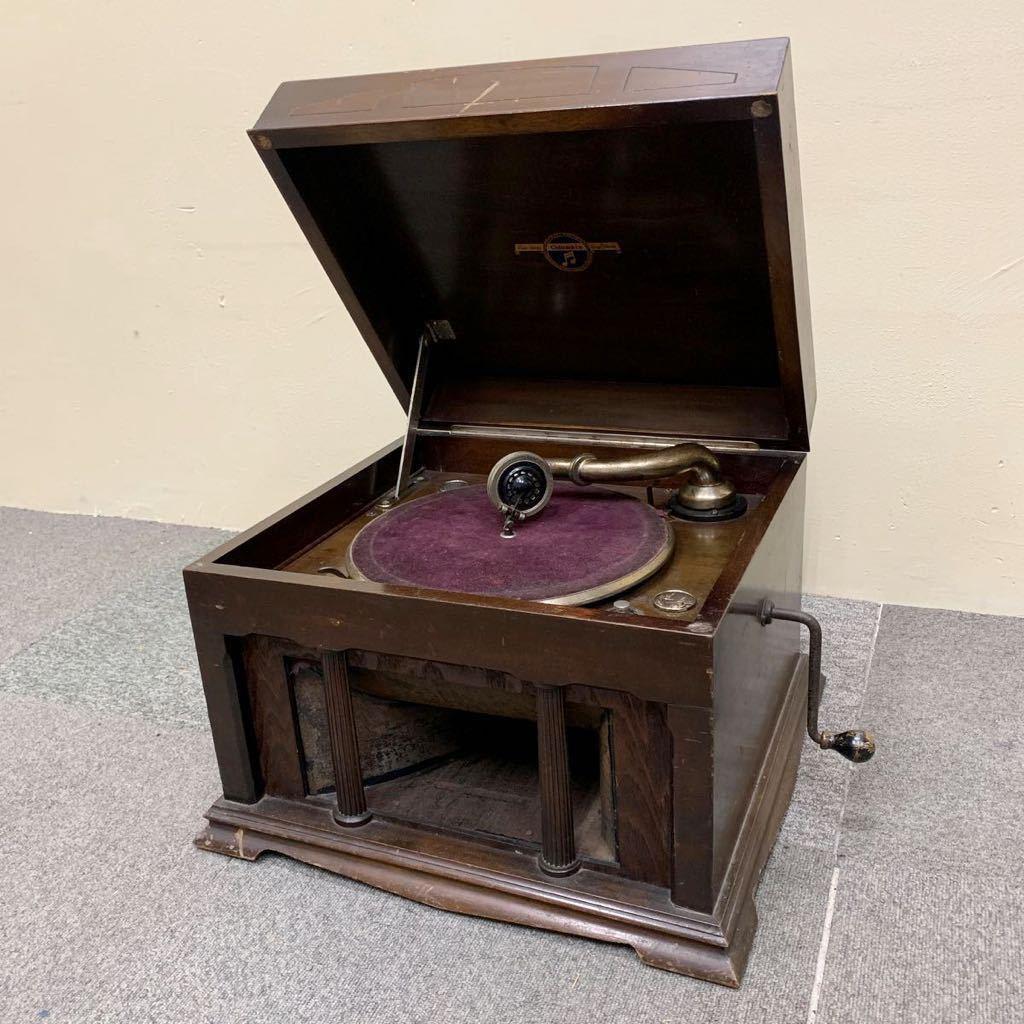* Columbia 卓上 蓄音機 ターンテーブル grafonola 手回し レトロ アンティーク 格安売り切りスタート◎