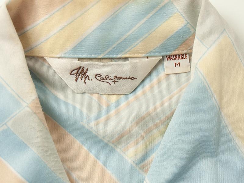 1970年代 Mr. California 半袖 ポリシャツ ミスターカリフォルニア 70s 古着 ビンテージ