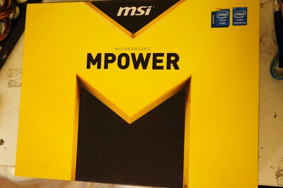 1円スタート MSI製 Z87 MPOER (LGA1150 第4世代インテルCPU) 中古 ジャンク扱い