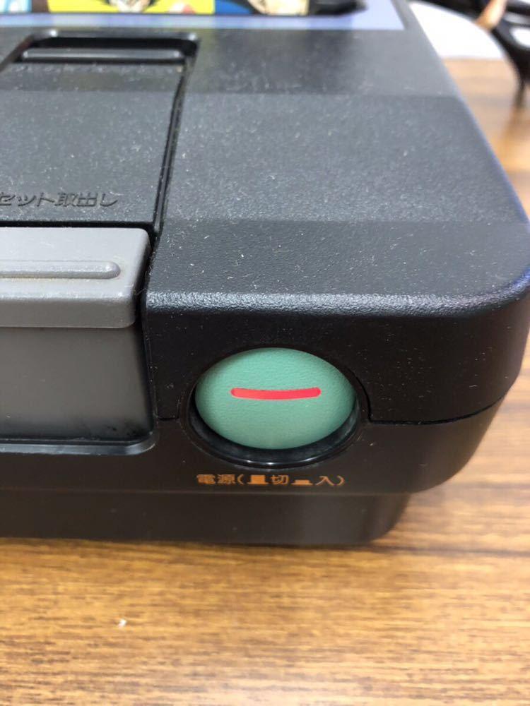 SHARP/シャープ ツインファミコン本体 AN-505+専用純正アダプターセット/任天堂 通電OK/中古未確認 通電OK/動作未確認 ジャンク扱い (80s)_画像5